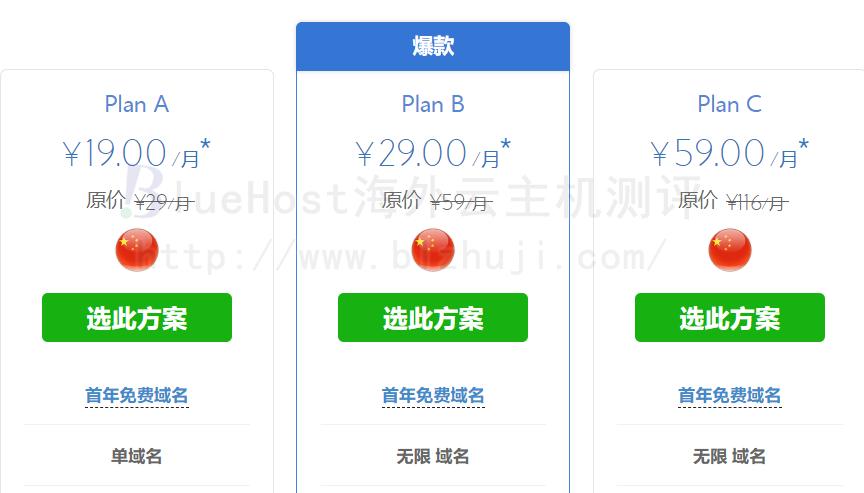 BlueHost香港虚拟主机低价热卖