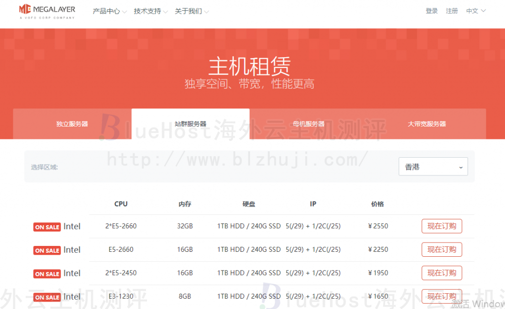 Megalayer香港站群服务器介绍
