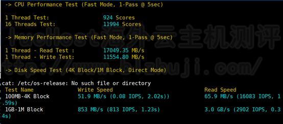 BlueHost美国站群服务器的CPU内存现成测试
